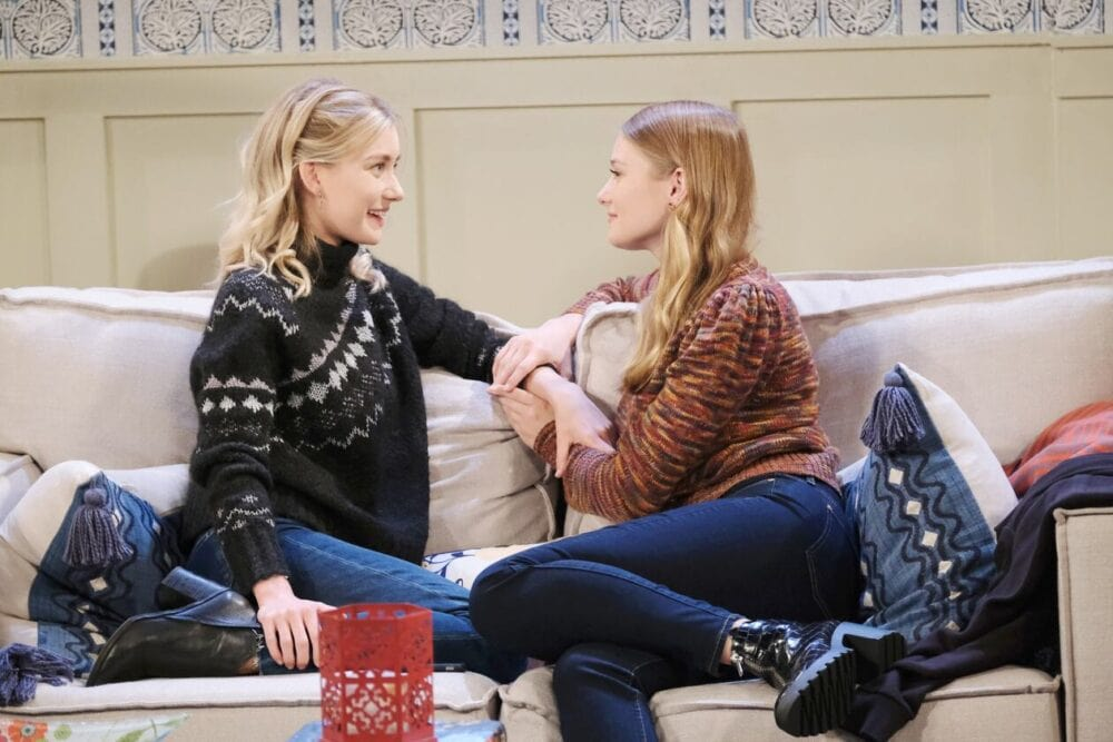 allie and claire talk charlie days of our lives
