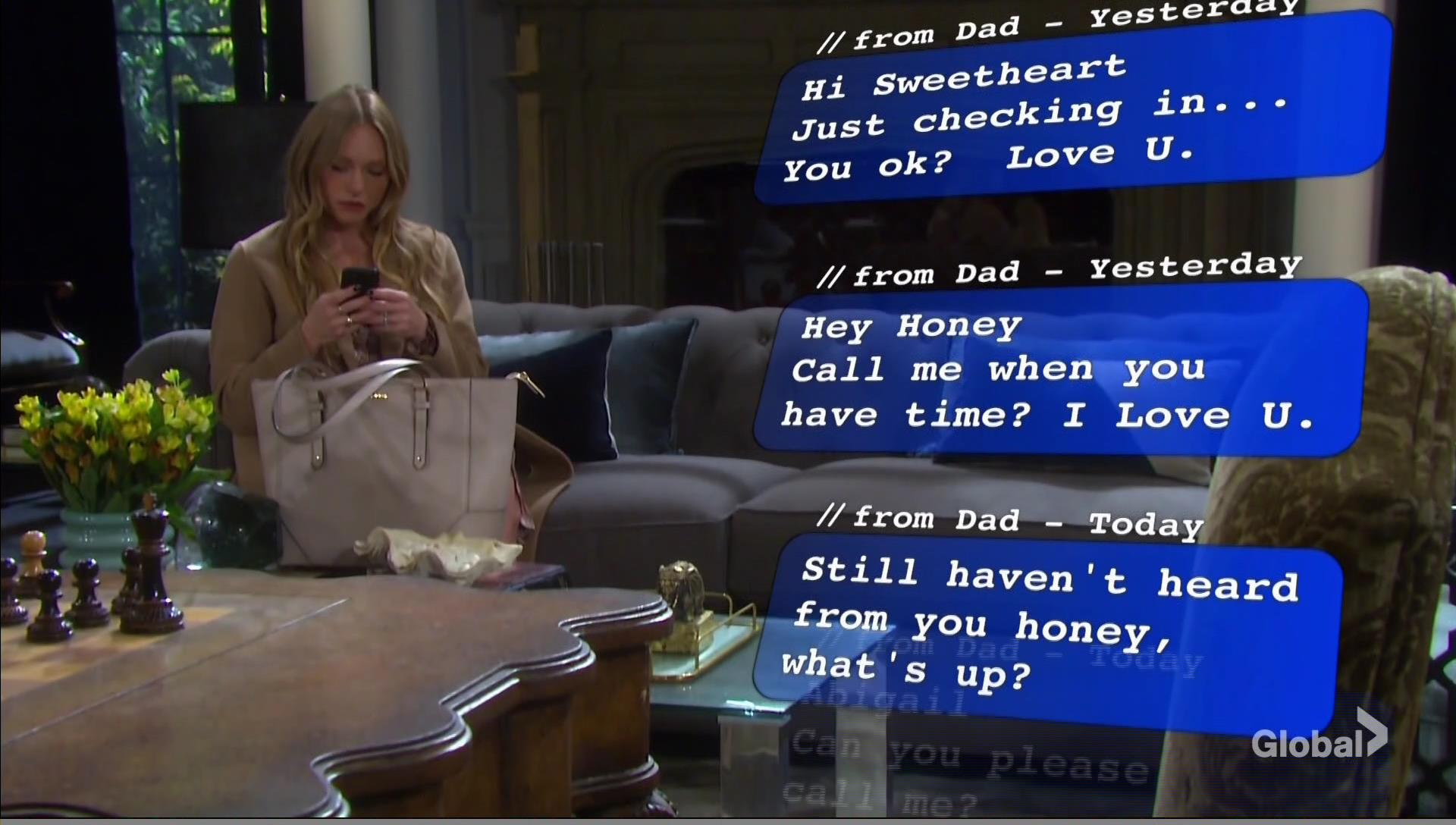 abby gets texts days of our lives
