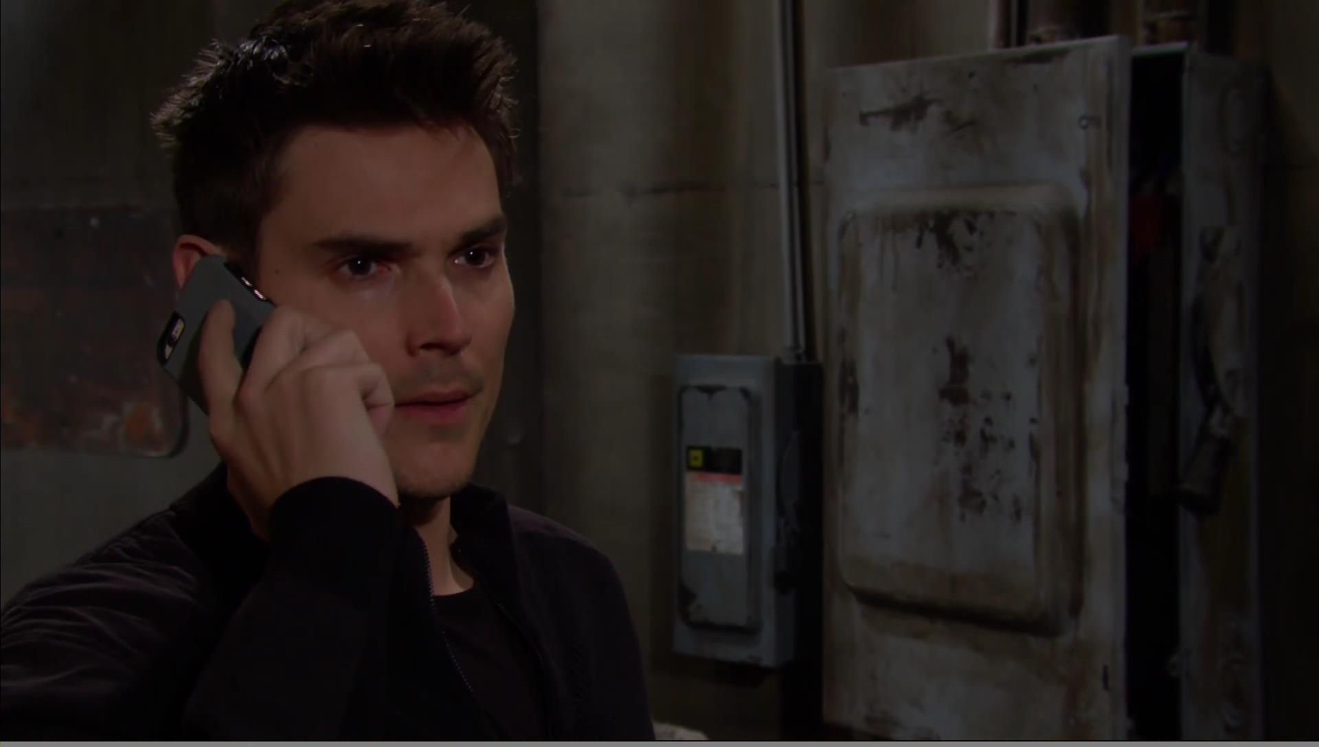 adam on a call young restless
