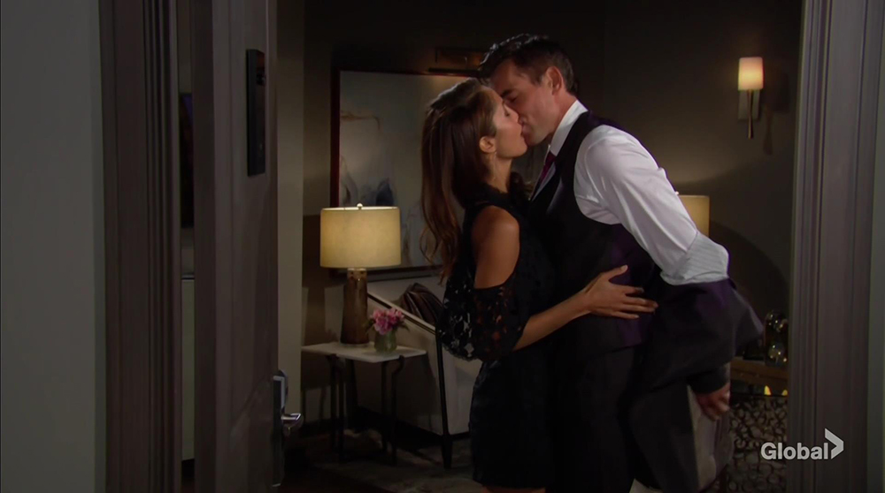 billy lily kissing young and restless