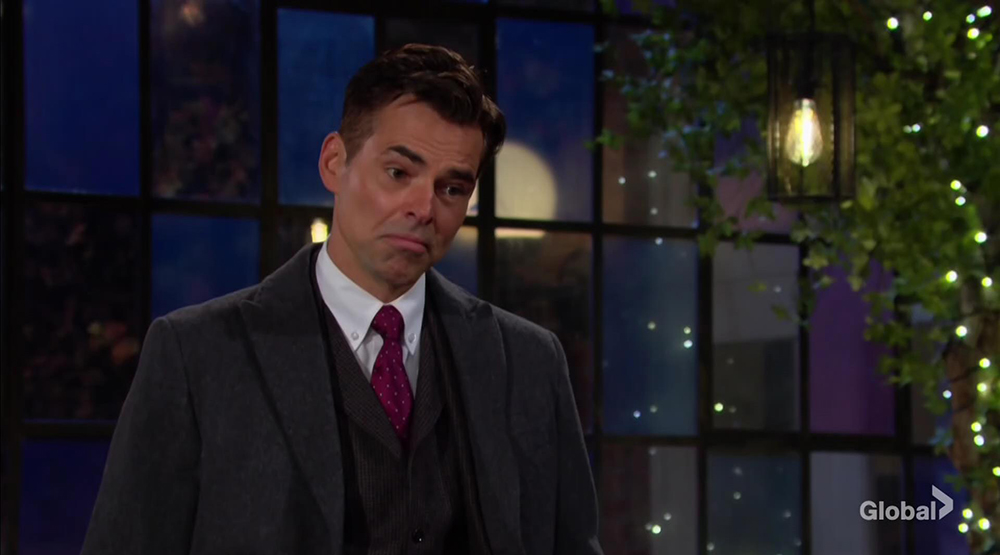 billy rants to victor young and restless