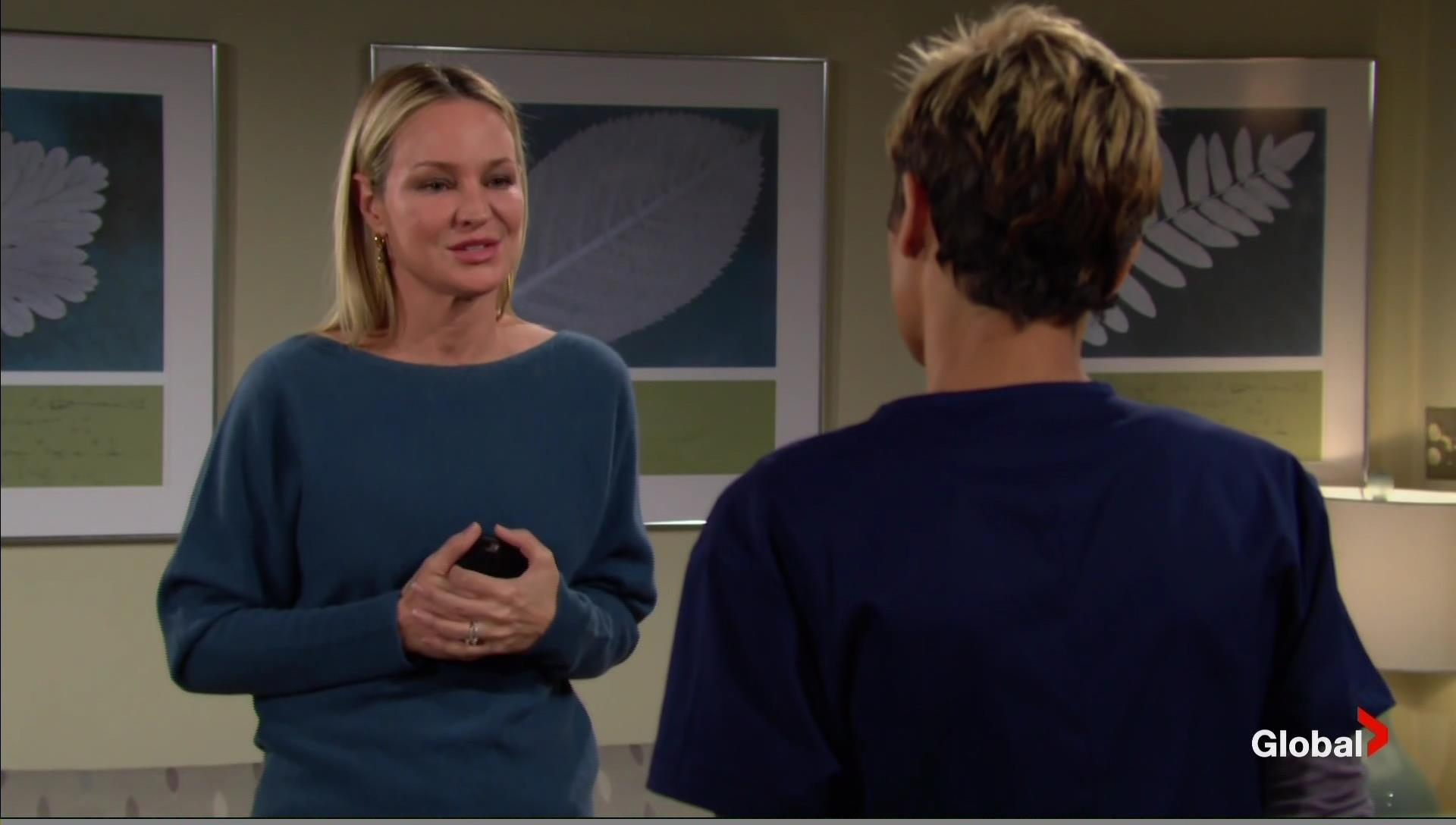 sharon sobs over faith young and restless