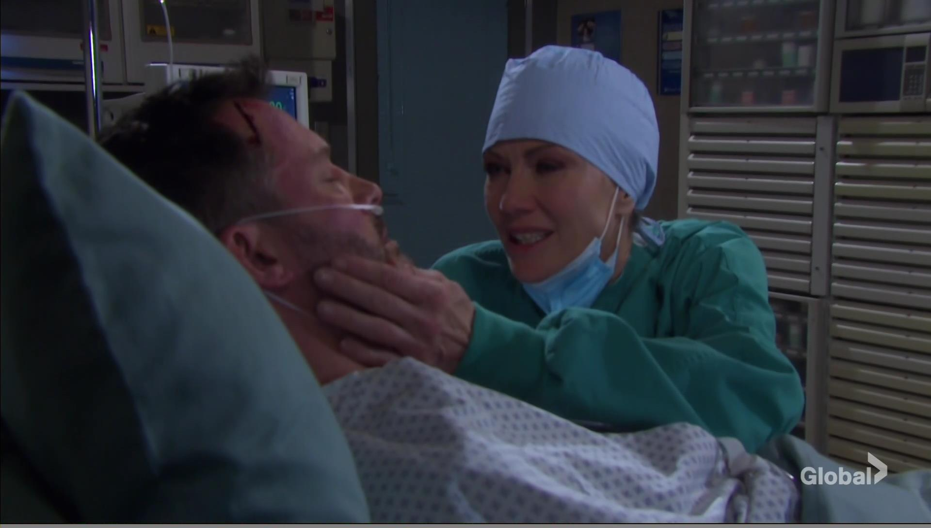 kristen with brady hospital bedside days of our lives