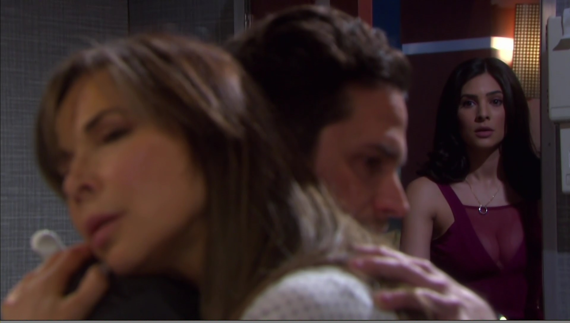 kate hugs jake gabi watches days of our lives