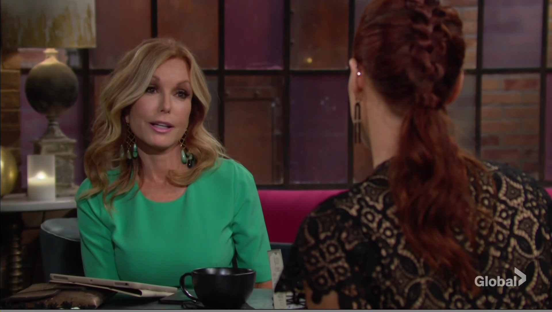 lauren and sally discuss job young and restless