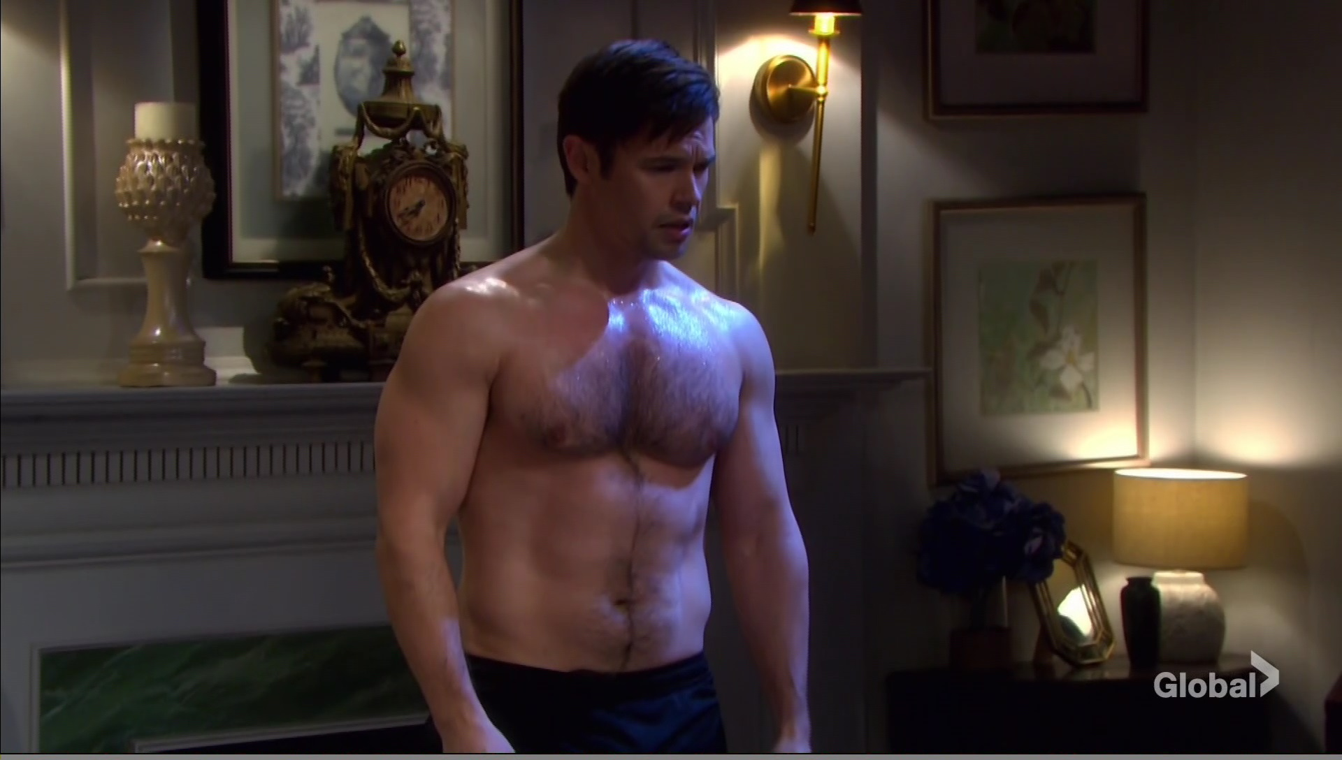 xander shirtless angry gwen days of our lives