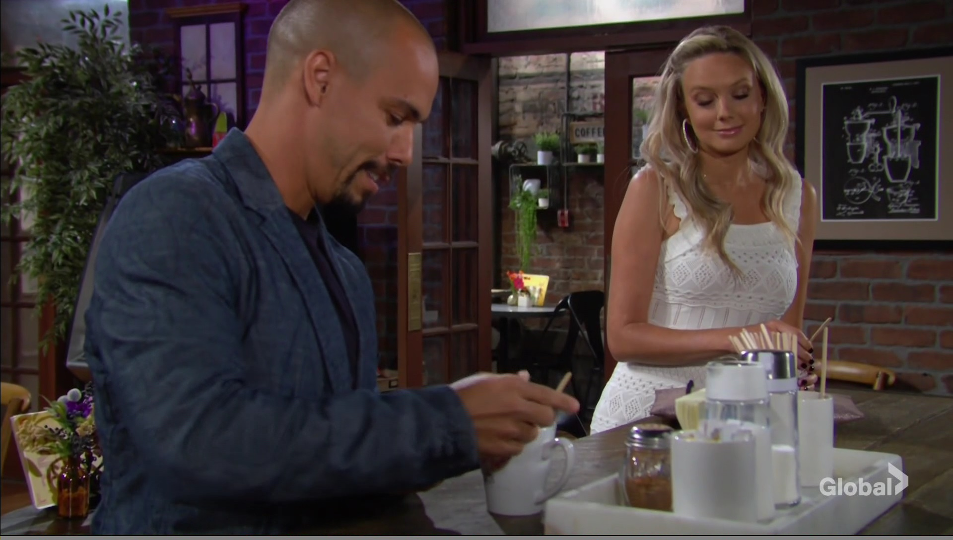 devon abby good friends coffee young restless
