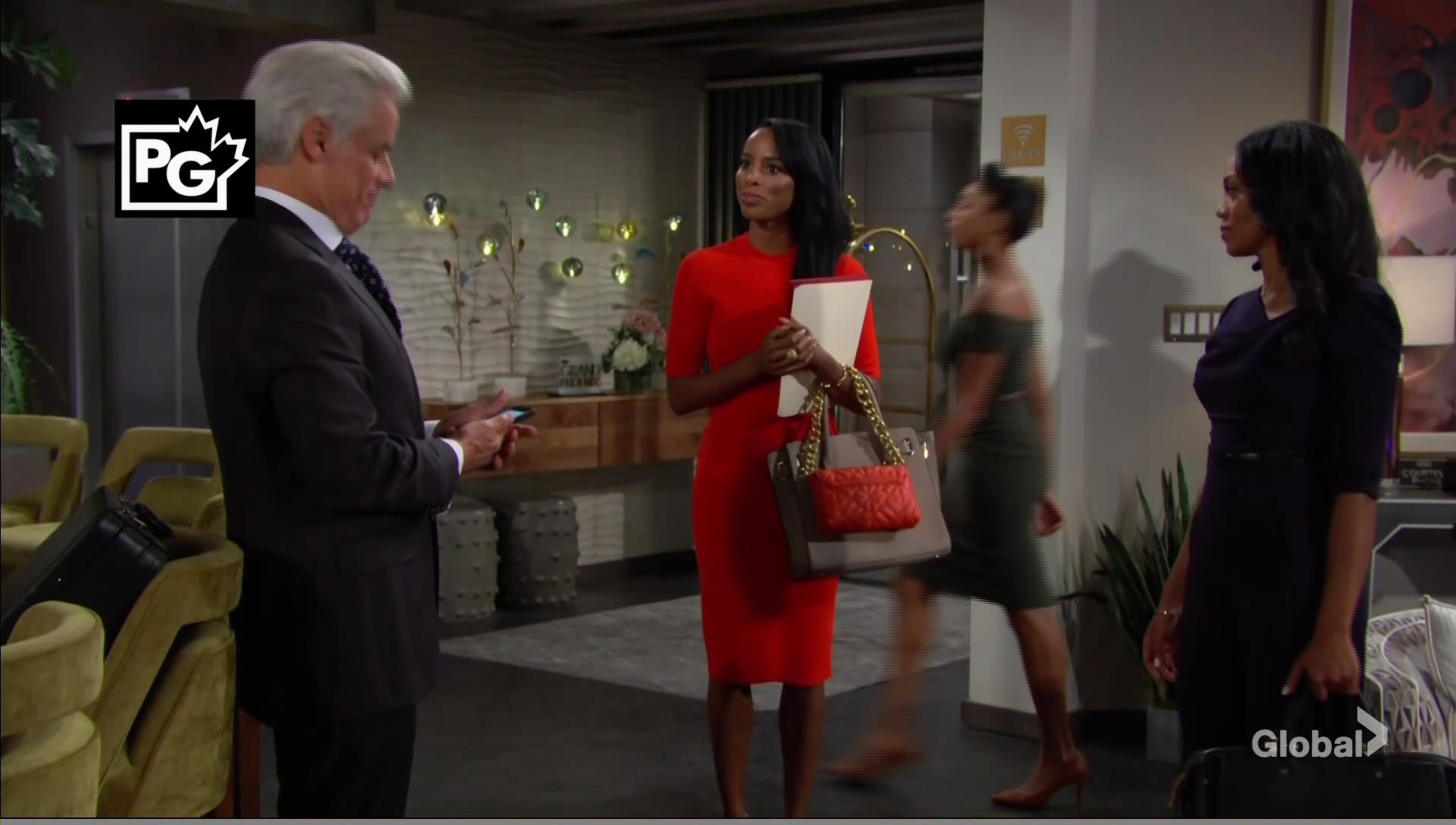 amanda introduces imani michael young restless