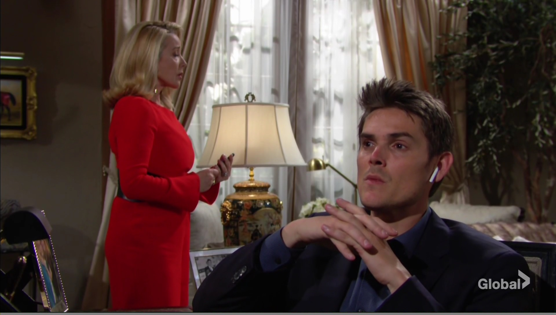 nikki trouble adam young restless
