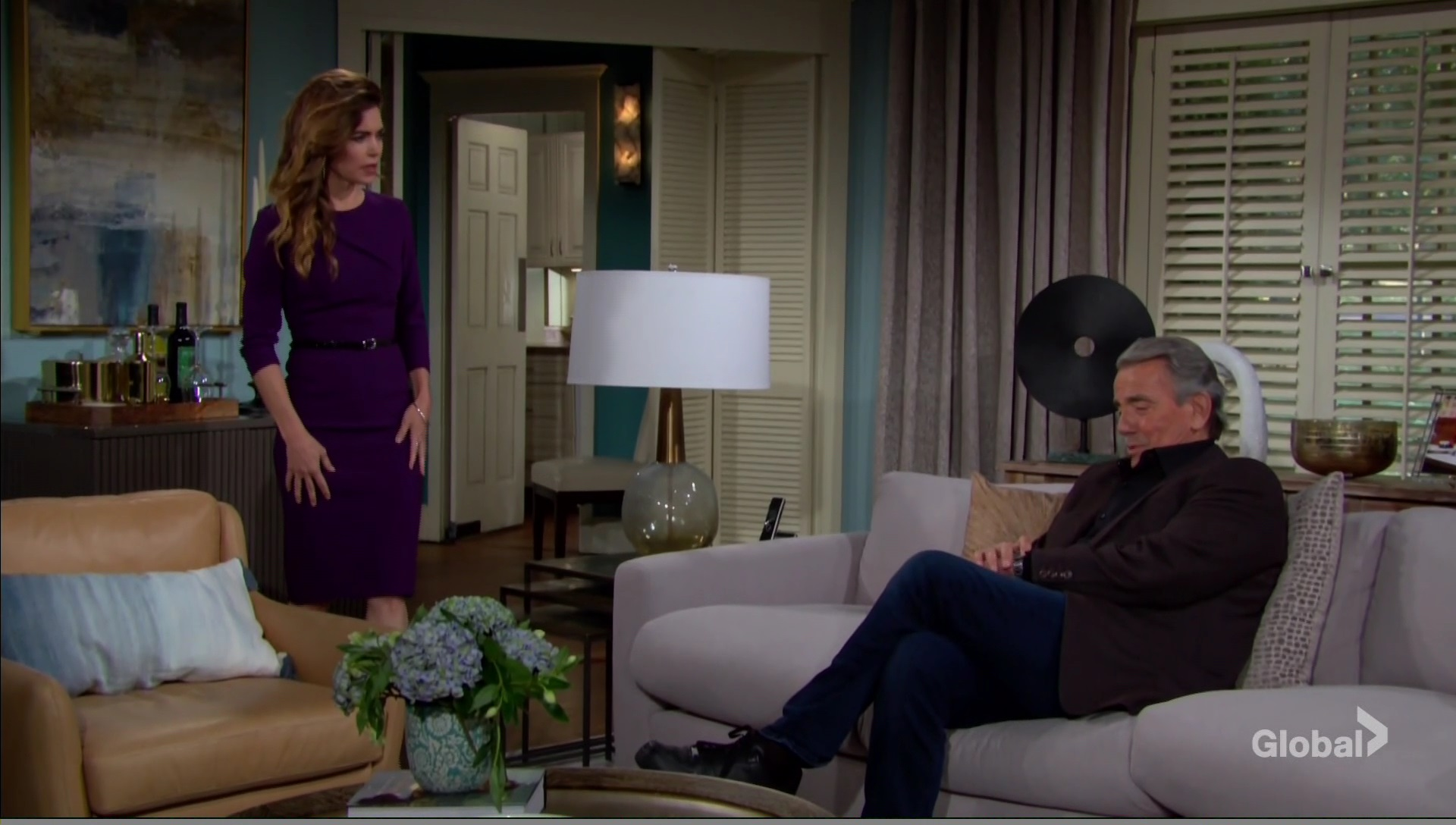 victor upset ash living with victoria young and restless