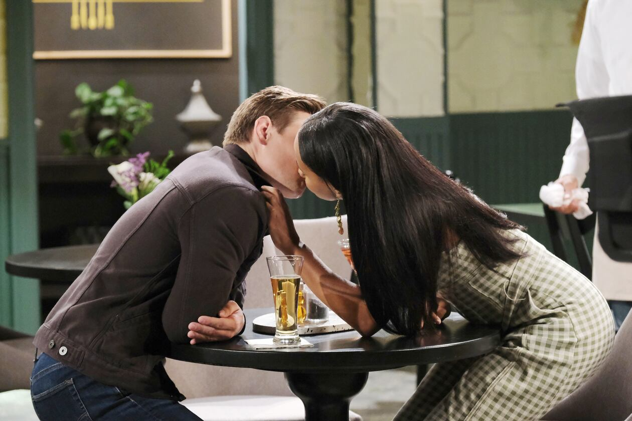 johnny chanel kiss first time days of our lives soaps spoilers