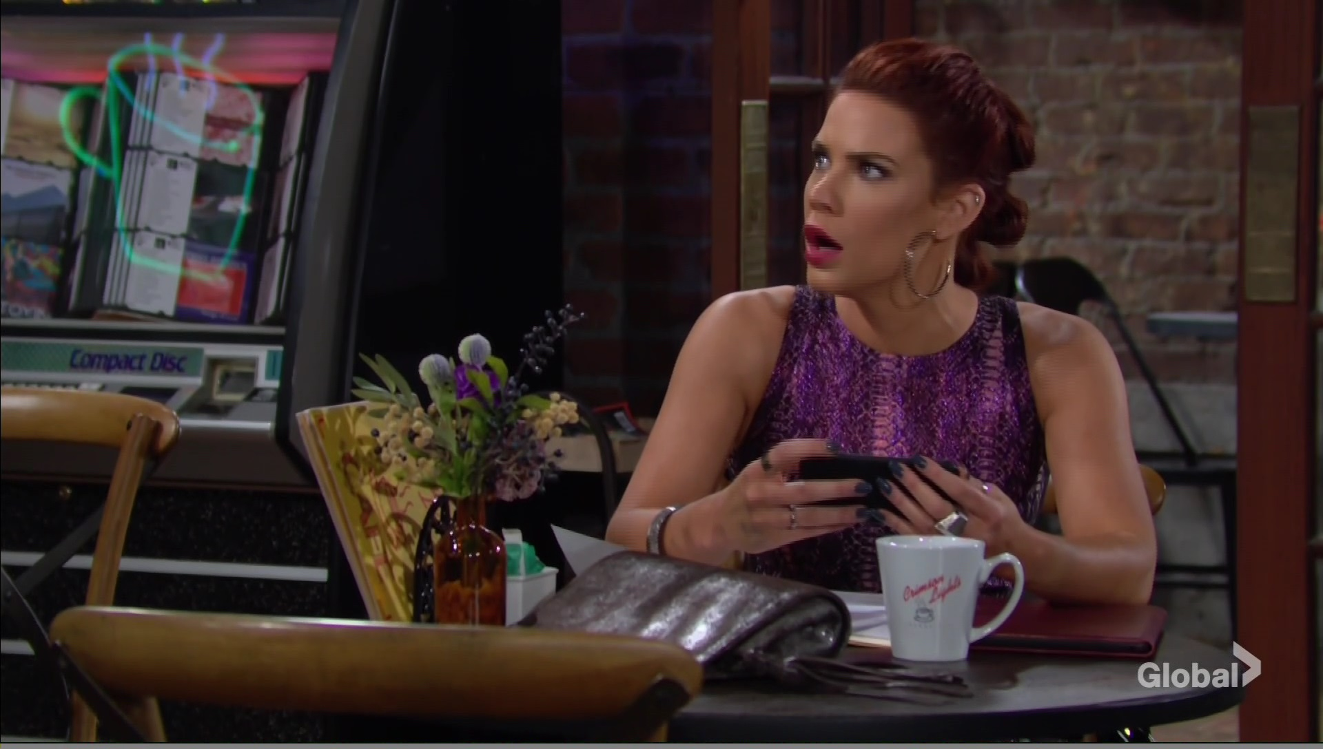 sally in shock young and the restless