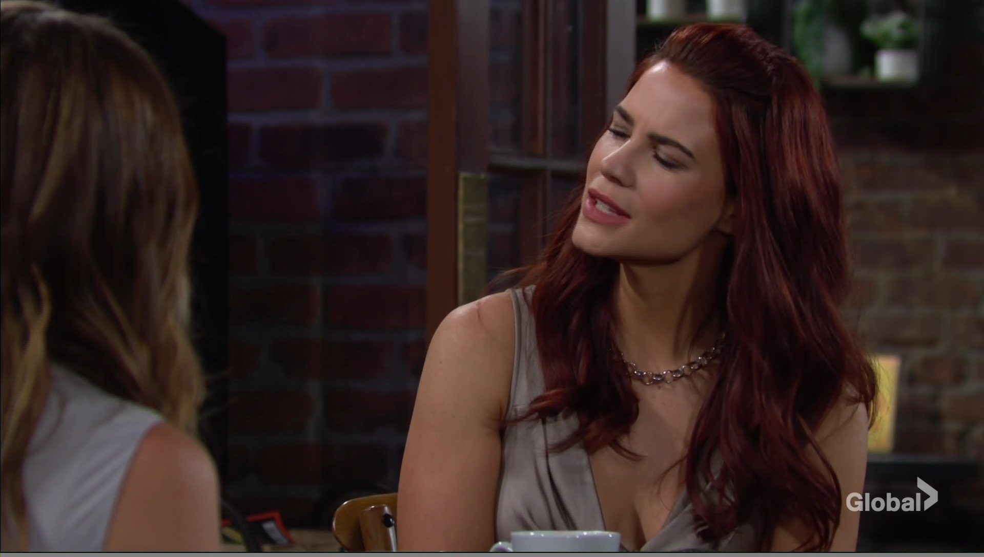 sally surprised by glo young restless