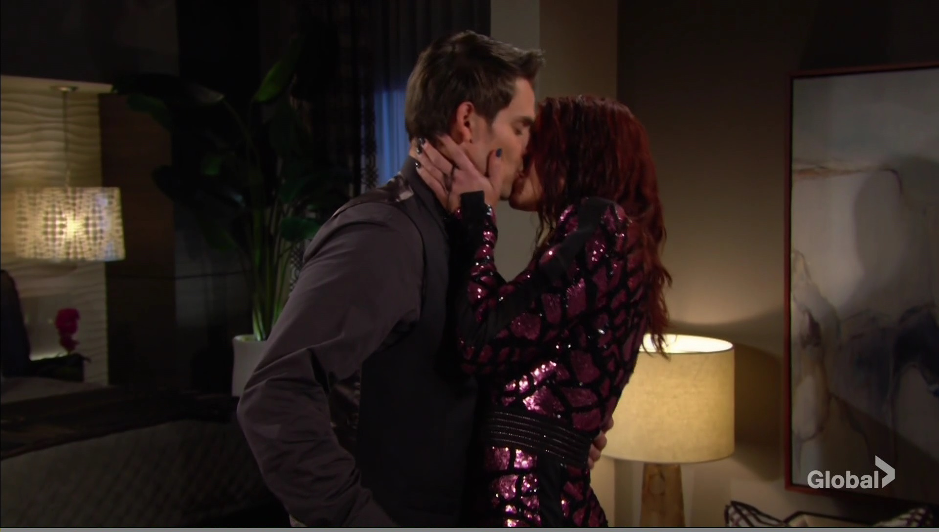 adam sally kissing young restless