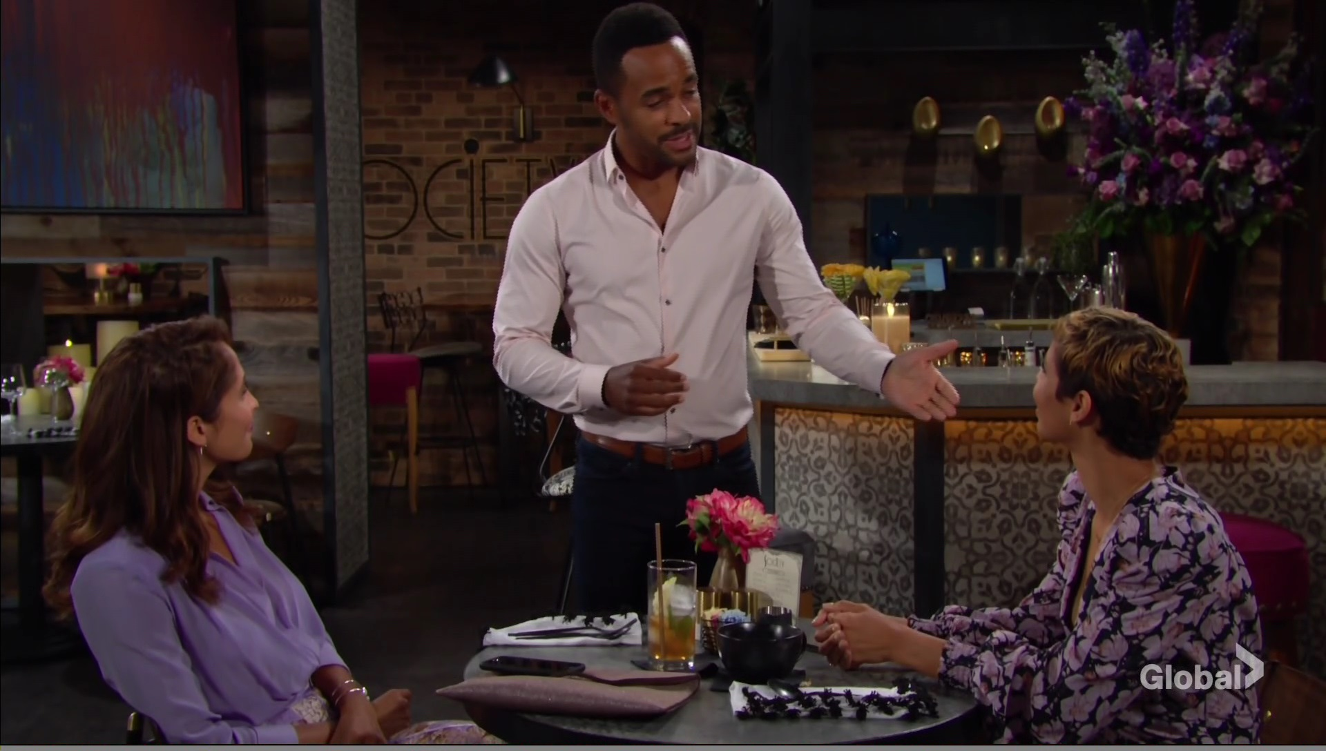 nate interrupts ladies young restless