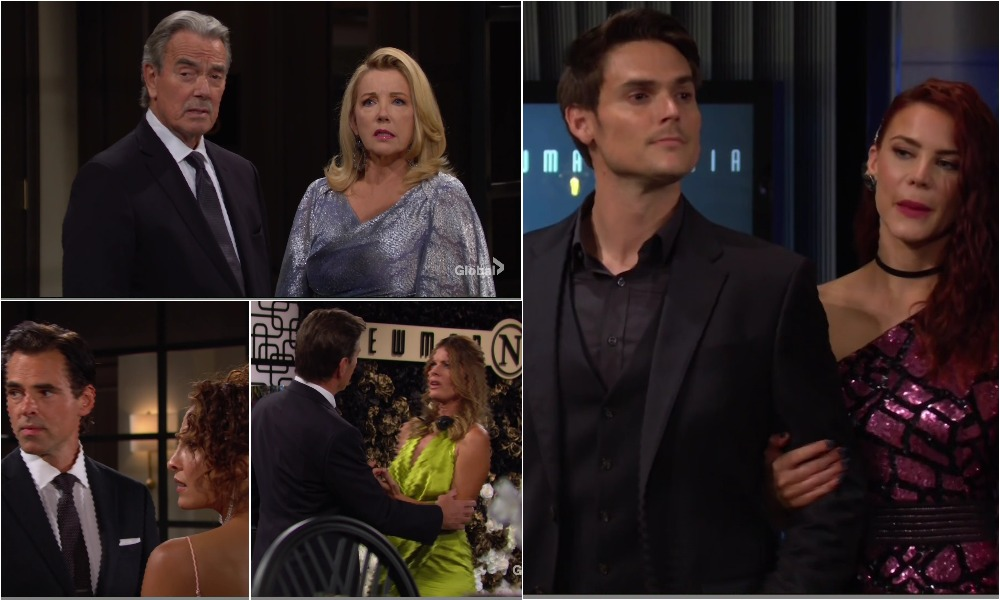 newman party sally gets ice water on her young restless