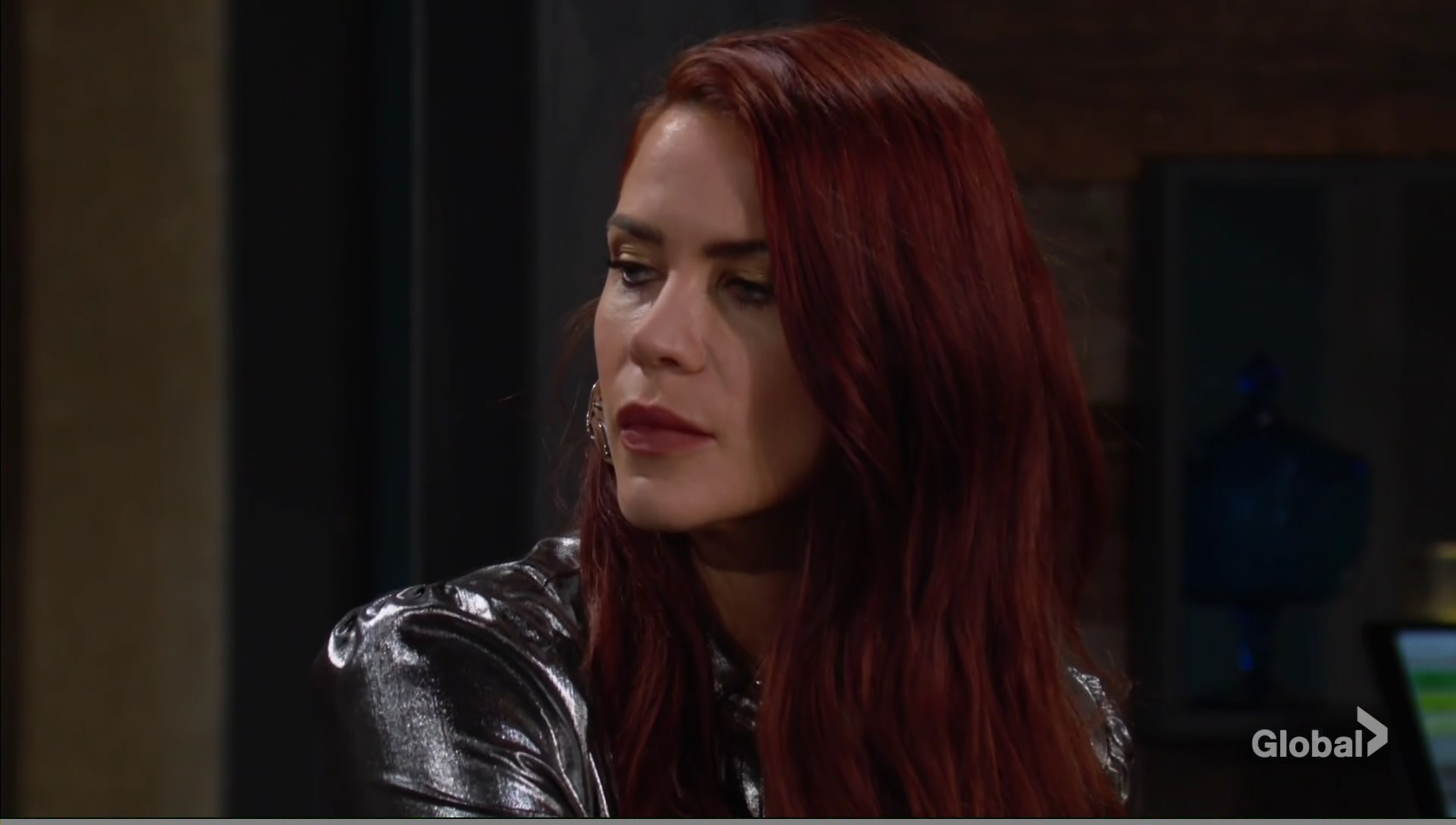 sally eavesdrops on victoria young restless