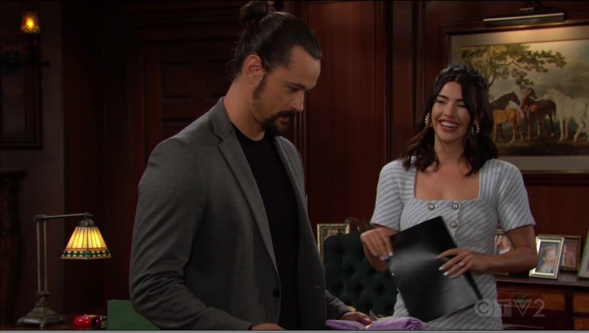 steffy laughs knowingly bold beautiful