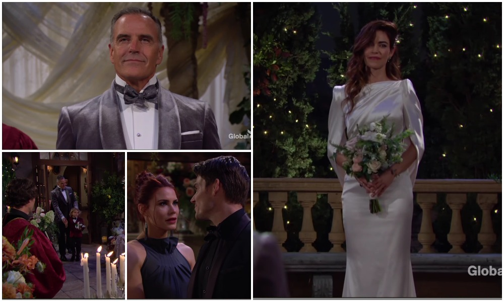 locke newman wedding gown young restless soaps spoilers